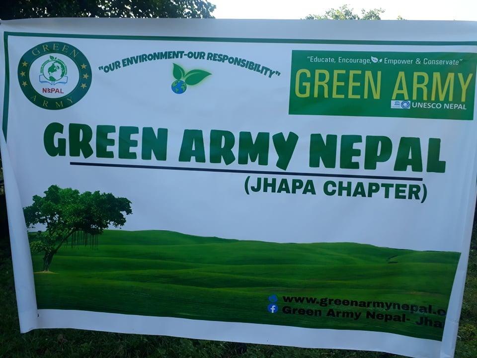 ग्रीन आर्मी नेपाल झापा च्याप्टरद्धारा आम्दा मेचीनगर अस्पताल परिसरमा बृक्षारोपन र सरसफाई कार्यक्रम